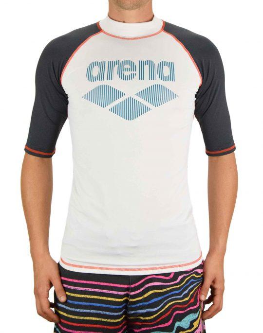 Arena Rash Vest UV Protection (003137150) White/Ash Grey