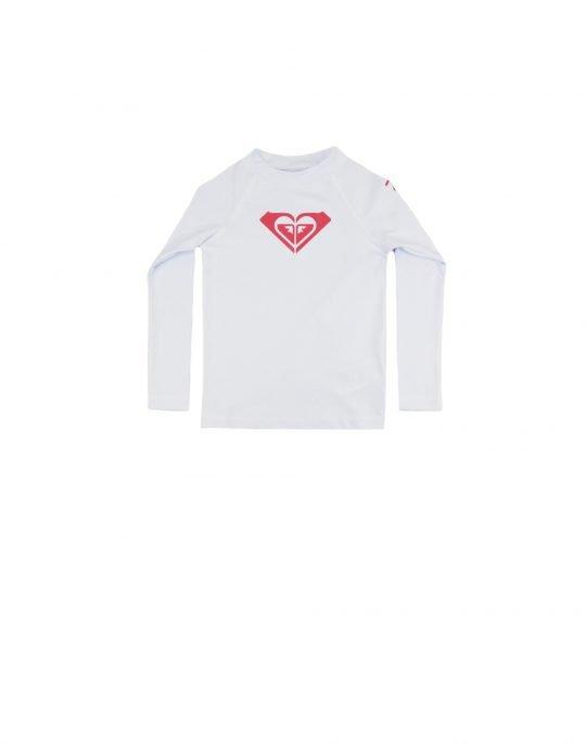 Roxy Whole Hearted UPF 50 Rash Vest (ERLWR03149 WBB0) White