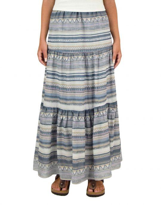 Only Asia Life Maxi Skirt (15230013) Faded Denim/Desert