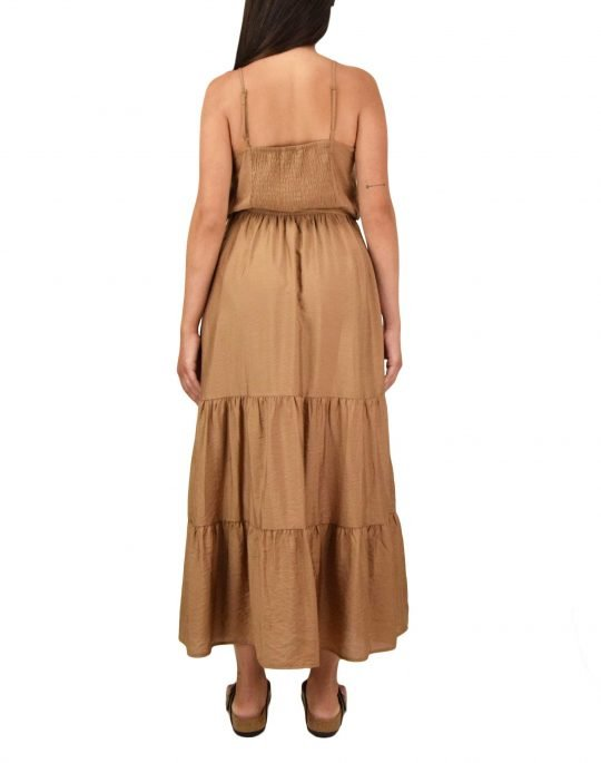 Only Sky Midi Strap Dress (15226448) Toasted Coconut