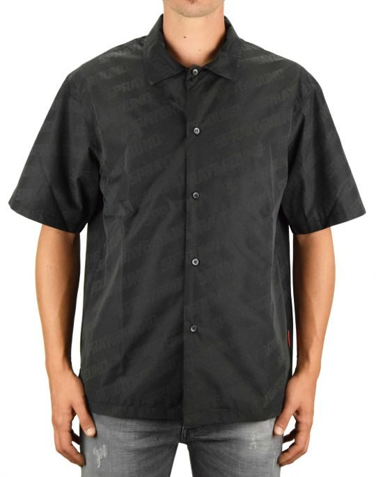 Sprayground Reflective Stripe Button Down Shirt (910SG9390M) Black
