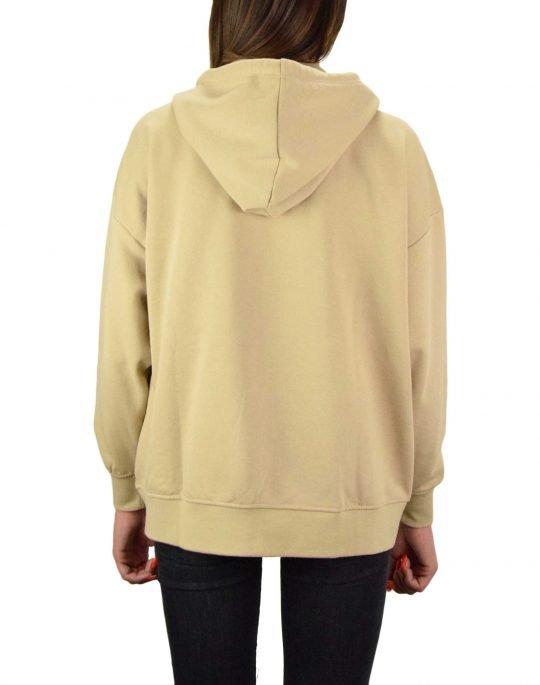 Only Feel Life Zip Oversize Hoodie Sweat (15234303) Humus