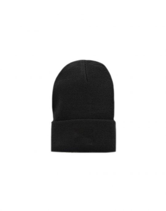 Fila Fine Rib Knit Turn Up Beanie (XF21FB07) Black