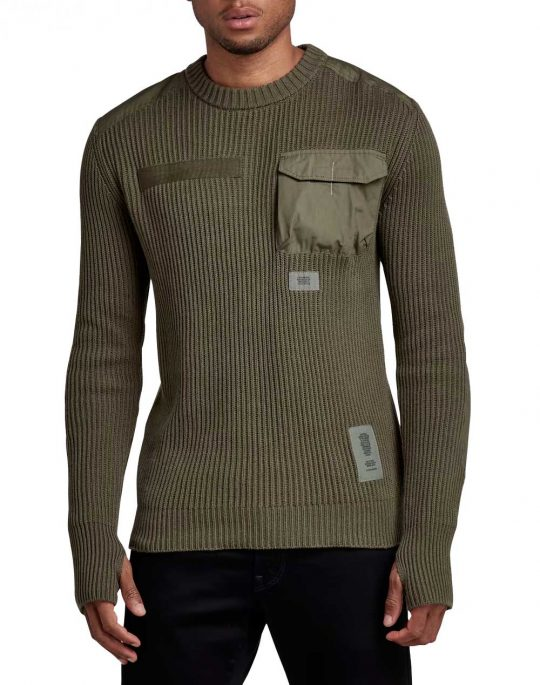 G-Star Army R Knit Pullover (D20418-C868-723) Combat
