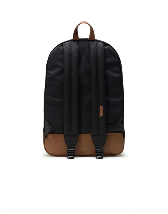 Herschel Supply Co Heritage 21.5L (10007-00055) Black/ Tan Synthetic Leather