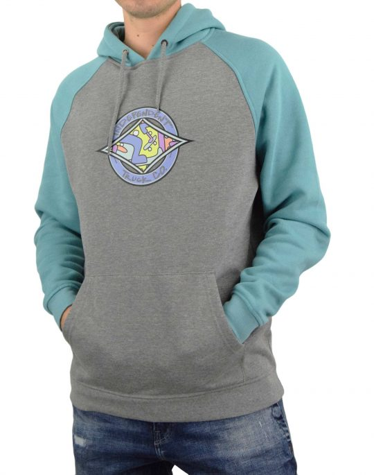 Independent Essence Cross Raglan Hoodie (INA-HDY-4221) Blue/Dark Heather