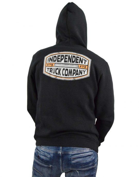 Independent ITC Curb Zip Hoodie (INA-HDZ-0126) Black