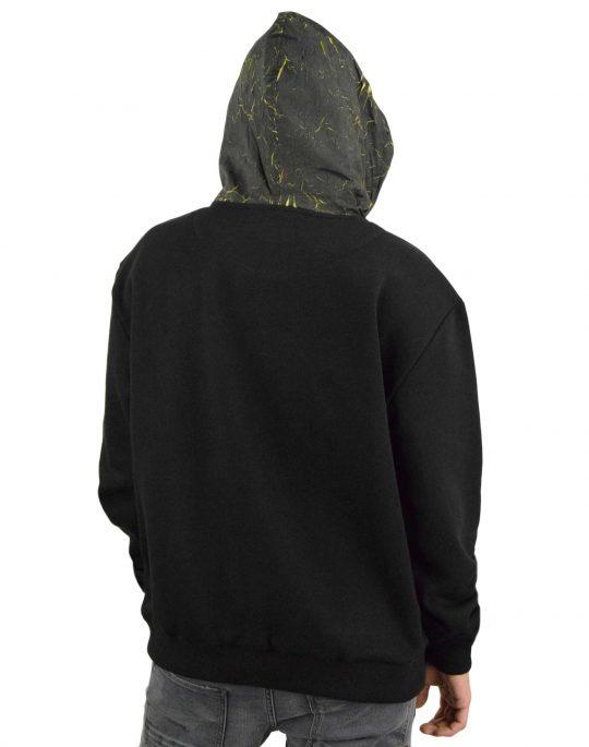 Karl Kani Signature Patch Hoodie (KM213-032-1) Black/Yellow