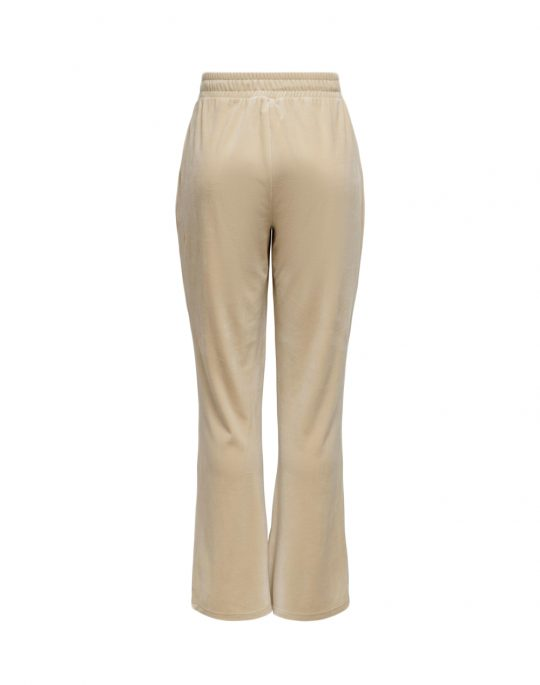 Only Laya Sweat Flared Velvet Pant (15237770) Cement