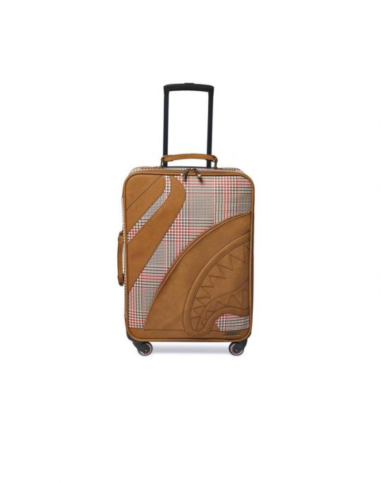 Sprayground 1972 Sports Boujee Illrich Cut & Sew Vegan Leather Carry-On Luggage (910CL104NSZ) Brown
